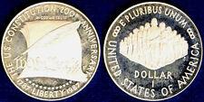 STATI UNITI USA 1 DOLLARO  ARGENTO PROOF 1987 S COSTITUZIONE #4684