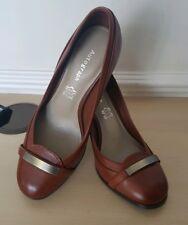 Autograph M&S Ladies Chestnut Brown Leather Court Shoes UK 3.5 EU 36.5