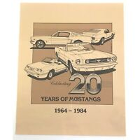 Vintage Ford Mustang Print Poster 20 Years Car David Faulkner 84 Shelby Fastback