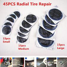 45Pcs Universal Radial Tire Repair Round Patch Assortment Kit SMALL MEDIUM LARGE
