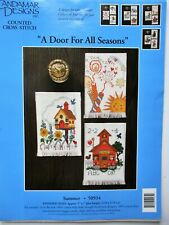 """A DOOR FOR ALL SEASONS SUMMER Counted Cross Stitch Kit 5"""" x 7"""" each project"""