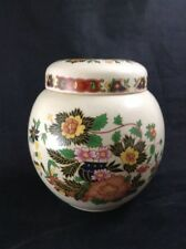 "Vintage Sadler Ginger Jar Colorful Floral Pattern 5"" Canister Made in England"