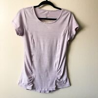 Gaiam Women's Pink Purple Short Sleeve Shirt Top Athletic Workout Yoga SMALL