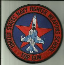 "TOP GUN U.S.NAVY 4""PATCH UNITED STATES NAVY FIGHTER WEAPONS SCHOOL PILOT AVIATOR"