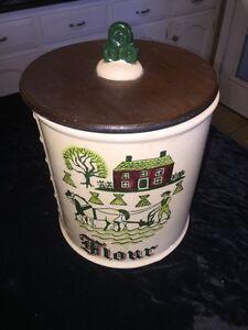 Metlox Poppytrail Homestead Flour Canister
