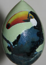 gourd Christmas ornament with toucan