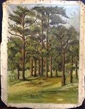 Tableau ancien impressionniste proche OTHON FRIEZ  Paysage Sous-bois Huile toile
