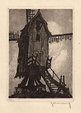 """ORIGINAL Roger Hebbelinck Etching """"Moulin a Dilbeek"""" SIGNED/NUMBERED Framed COA"""