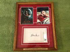 """John Hurt Signed (Bas Beckett) Autograph """"Alien"""" Framed psa jsa Sigourney Weaver"""