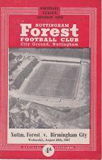NOTTINGHAM FOREST v BIRMINGHAM CITY ~ 28 AUGUST 1957