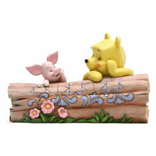 Disney Traditions Figurine - Pooh and Piglet On A Log *BRAND NEW*
