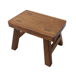 Wood Step Stool Small Plant Stand Foot Stool 6 inch for Kids Small Potty Ottoman
