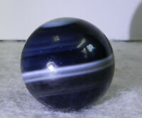 #11247m Vintage Dark Colored Agate Marble .75 Inches