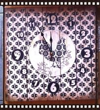 Shabby Chic Vintage Wall Clock Cockerel Hen Chicken Rooster Country Kitchen
