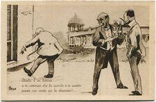 1932 Immagine Comica Dot Vino Fonti Diuretiche Purgative Casino Boario FP B/N VG