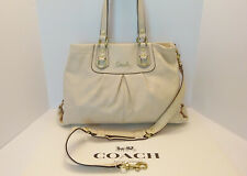 Coach Ashley Leather Ivory Cream Satchel Shoulder Hand Bag Crossbody F15513