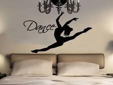 Wall Decal Dance Vinyl Sticker Decals Dancing Woman Silhouette Girls Decor NV202
