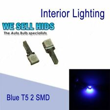 T5 BLUE 2 SMD INTERIOR DASHBOARD UPGRADE LED BULBS WEDGE LED CANBUS  NO ERROR