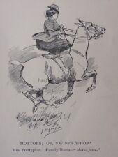 La chasse, Fox & chiens devises, ou qui est qui? Mme prettyphat antique punch Cartoon