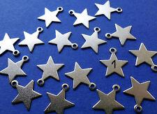 24 Sterne METALL Anhänger silber Zahlen  Adventskalender Weihnachtskalender NEU