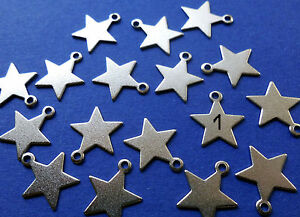 24 Stars Metal Pendant Silver Numbers Advent Calendar Christmas Calendar New