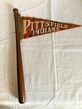 "Souvenir wood baseball bat 16"" long Sheldon Ball Bat Kinzua Pittsfield Indians"