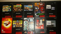 Lot of 10 Super Nintendo SNES Manuals Incl. Donkey Kong Country 2 3