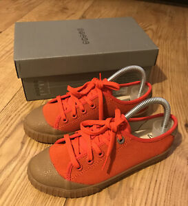 Childrens Clarks Orange Shoes Size 3.5 Brand New With Box