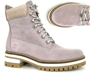 TIMBERLAND WOMANS NATURE NEEDS HEROES COURMAYEUR VALLEY PURPLE PINK BOOTS A2338