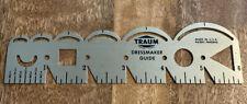 Vintage -Traum Dressmaker Guide/Gauge -6 inch Sewing Tool -Tailor Aluminum Ruler