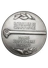 Medaille batailles de champagne Bronze argenté