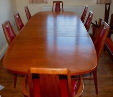 Vintage Extendable Teak Dining Table and 8 Chairs Niels Kofoed Koefoeds Hornslet