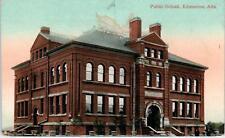 EDMONTON, Alberta, Canada    PUBLIC SCHOOL     c1910s       Postcard