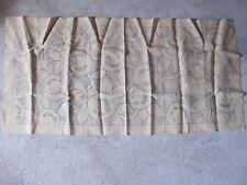Toile à broder ancienne en lin - début 20ème - 70cm x 170cm