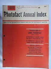Photofact Annual Index Ranges from 1972 to 1987 #0319