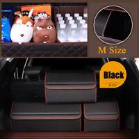M Size Microfibre Leather Car Trunk Organizer Storage Box Interior Accessories