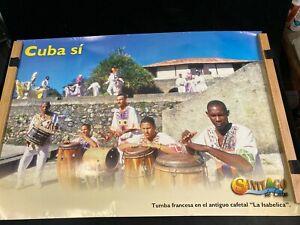 "2001 CUBA TRAVEL POSTER, ""TUMBA FRANCESA"" AT THE COFFEE PLANTATION, LA ISABELICA"
