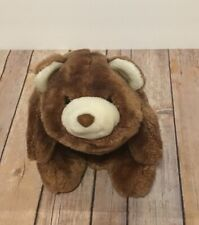 "Gund Vintage Baby Snuffles Bear 11"" Plush Brown Cream Stuffed Animal"