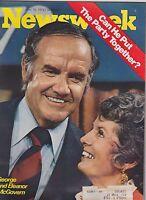 JUNE 19 1972 - NEWSWEEK magazine - GEORGE and ELEANOR MCGOVERN - POLITICS