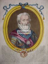 Gravure de HENRI IV  Henri le grand  Roi de France  Nicolas de LARMESSIN