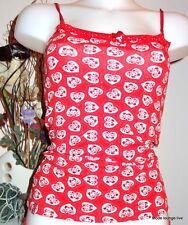 Pussy Deluxe Top Cat rot S 36 red Katzen white Nachthemd Unterwäsche