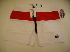 Shorts Boardshort Beach Tennis Tom Caruso Pipeline 1427500 White Red 32