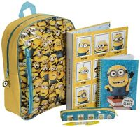 Despicable Me Minions 'Filled Stationery Set' School Bag Rucksack Backpack Gift