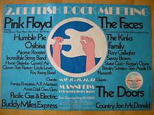 PINK FLOYD*THE DOORS*2.BRITISH ROCK MEETING MANNHEIM 1972 KONZERTPLAKAT & TICKET