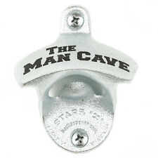 """""""Man cave"""" new wall mounted beer bottle opener bar decor with screws"""