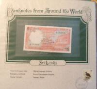 World Banknotes Sri Lanka 1982 5 Rupees P 91 UNC Prefix A/25