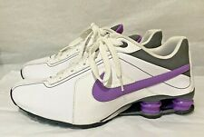 2010 NIKE SHOX TENNIS SHOES SNEAKERS PURPLE WHITE WOMEN'S 9.5 RUNNING ATHLETIC