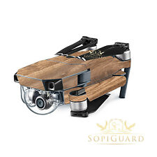 SopiGuard Oak Wood Skin Wrap Battery Controller for DJI Mavic Pro