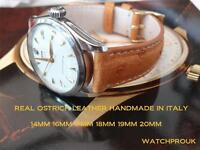 REAL OSTRICH LEATHER STRAP FOR YOUR Bell&Ross WATCH