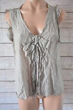 WITCHERY Top Sz medium 10 12 Beige Silk tank Top